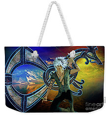 Weekender Tote Bag featuring the digital art The Norseman by Shadowlea Is