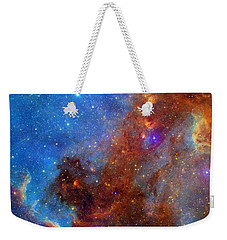 Weekender Tote Bag featuring the photograph The North America Nebula In Different Lights by NASA JPL - Caltech
