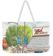 The Nosh Of Beverly Hills, Little Santa Monica And Roxbury, Beverly Hills, California Weekender Tote Bag