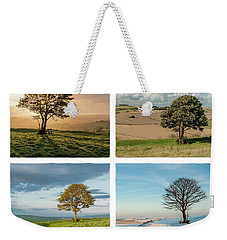 The Nowhere Tree - Four Seasons Weekender Tote Bag by Hazy Apple