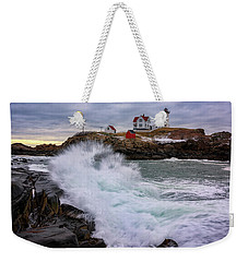 The Nubble After A Storm Weekender Tote Bag by Rick Berk