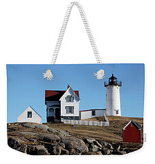 The Nubble Light House  Weekender Tote Bag