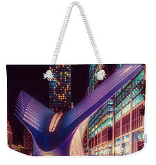 Weekender Tote Bag featuring the photograph The Occulus At Midnight by Chris Lord