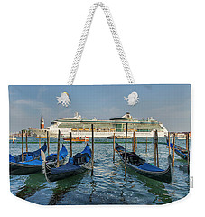 The Old And The New In Venice Weekender Tote Bag