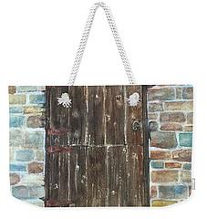 The Old Barn Door Weekender Tote Bag