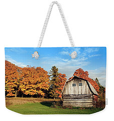 Weekender Tote Bag featuring the photograph The Old Barn In Autumn by Heidi Hermes