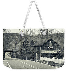 Weekender Tote Bag featuring the photograph The Old Barn by Mark Dodd