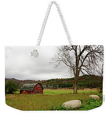 The Old Barn With Tree Weekender Tote Bag