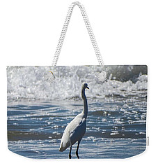Egret And The Waves Weekender Tote Bag