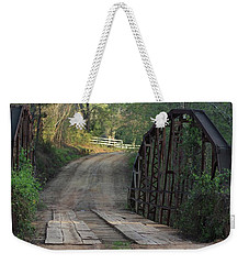Weekender Tote Bag featuring the photograph The Old Country Bridge by Kim Henderson
