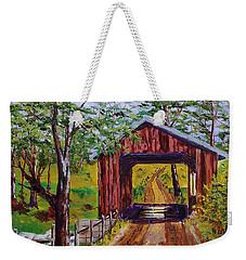 The Old Covered Bridge Weekender Tote Bag