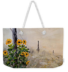 The Old Fence Weekender Tote Bag by Alan Lakin