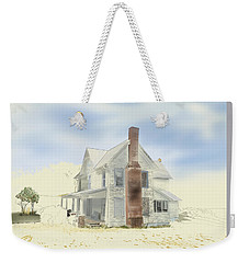 Weekender Tote Bag featuring the painting The Home Place - Silent Eyes by Joel Deutsch