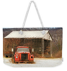 Weekender Tote Bag featuring the photograph The Old Lumber Truck by Lori Deiter