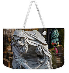 Weekender Tote Bag featuring the photograph The Old Man Of Powazki Cemetery Warsaw  by Carol Japp