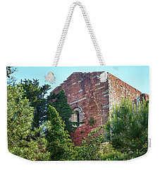 The Old Monastery Of Escornalbou Surrounded By Trees In Spain Weekender Tote Bag