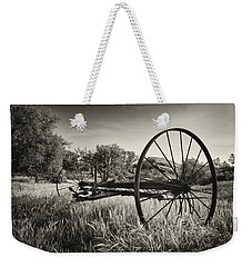 The Old Mower 2 In Black And White Weekender Tote Bag