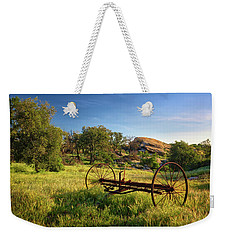 The Old Mower 1 Weekender Tote Bag by Endre Balogh