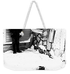 Weekender Tote Bag featuring the photograph The Old Seller by John Williams