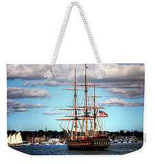 Weekender Tote Bag featuring the photograph Tall Ship The Oliver Hazard Perry by Tom Prendergast