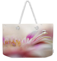 Weekender Tote Bag featuring the photograph The One. Macro Gerbera by Jenny Rainbow