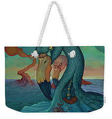 Weekender Tote Bag featuring the painting The Only Thing That Will Have Mattered by Andrew Batcheller