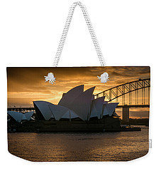 Weekender Tote Bag featuring the photograph The Opera House by Andrew Matwijec