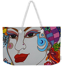 Weekender Tote Bag featuring the painting The Opera Singer by Alison Caltrider
