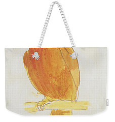 The Orange Color Bird Weekender Tote Bag