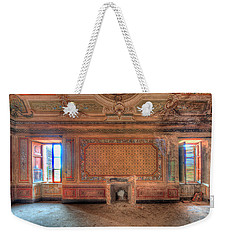 Weekender Tote Bag featuring the photograph The Orange Room Of The Villa With The Colored Rooms by Enrico Pelos