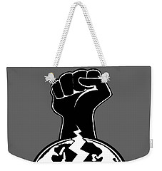 Weekender Tote Bag featuring the digital art The Orchestrator Fist by Jayvon Thomas