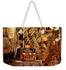Weekender Tote Bag featuring the photograph The Organ In Luray Caverns by Paul Ward