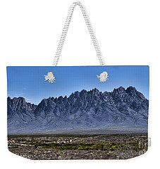 Weekender Tote Bag featuring the photograph The Organ Mountains by Gina Savage