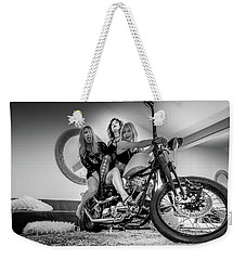 Weekender Tote Bag featuring the photograph The Original Troublemakers- by JD Mims
