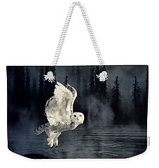 The Owl And Her Mystical Moon Weekender Tote Bag by Heather King
