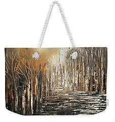 Weekender Tote Bag featuring the painting The Owl's Voice by Tatiana Iliina