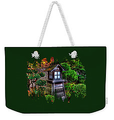 Weekender Tote Bag featuring the photograph The Pagoda At The Japanese Gardens by Thom Zehrfeld