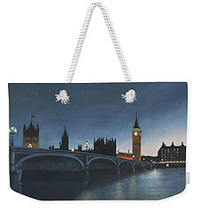 The Palace Of Westminster London Oil On Canvas Weekender Tote Bag