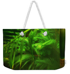 Weekender Tote Bag featuring the photograph The Palm Forest  by Connie Handscomb