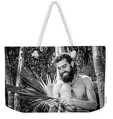 The Palm Frond Weaver Weekender Tote Bag