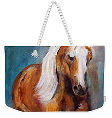 Weekender Tote Bag featuring the painting The Palomino by Barbie Batson