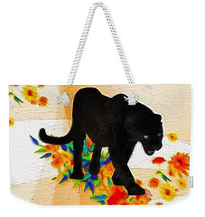 The Panther In The Flowerbed Weekender Tote Bag by Gabriella Weninger - David