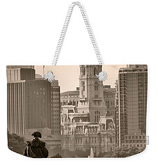The Parkway In Sepia Weekender Tote Bag by Bill Cannon
