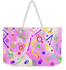 Weekender Tote Bag featuring the digital art The Party Is Here by Silvia Ganora