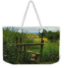 Weekender Tote Bag featuring the photograph The Path Most Traveled  by Connie Handscomb