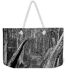 The Path Through The Woods Bandw Weekender Tote Bag