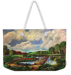 Reflections And Light Weekender Tote Bag by Randy Burns