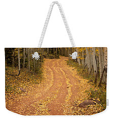 The Pathway To Fall Weekender Tote Bag by Ronda Kimbrow