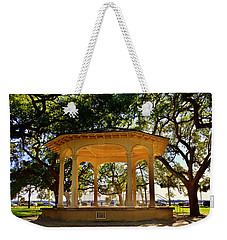 Weekender Tote Bag featuring the photograph The Pavilion At Battery Park Charleston Sc  by Lisa Wooten
