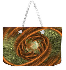 Weekender Tote Bag featuring the digital art The Pearl Of Universe by Giada Rossi